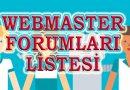 Webmaster Forumları Listesi