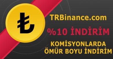 TRBinance.com İndirimli Link %10 İndirim