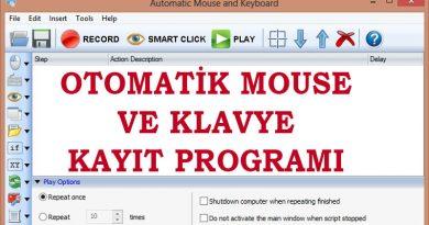 Otomatik Mouse ve Klavye Kayıt Programı